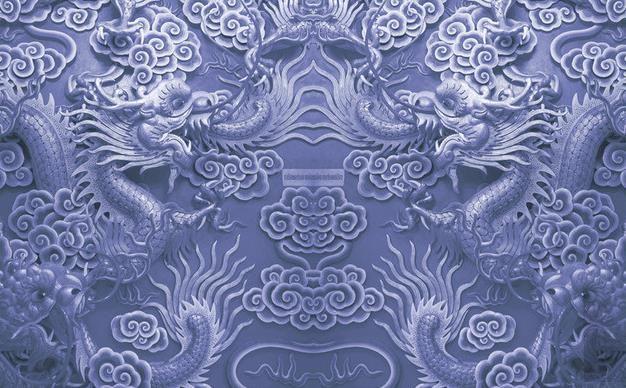 Photo Tapeta Wysokiej Jakości 3D Stereoskopowe Wysokiej jakości Atmosferyczna Relief Double Dragon Play Koralka Mural TV Tło Wall Fototapeta Wal