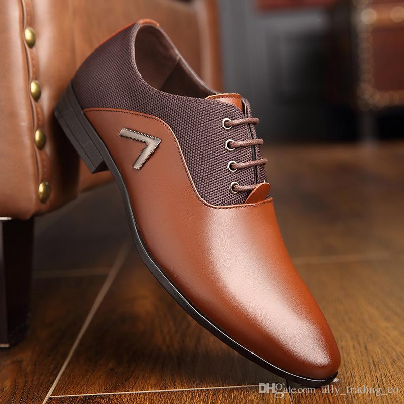 Deri ayakkabı erkekler zapatos hombre erkek ayakkabi sapato masculino calzado hombre deri oxford ayakkabı erkekler elbise ayakkabı
