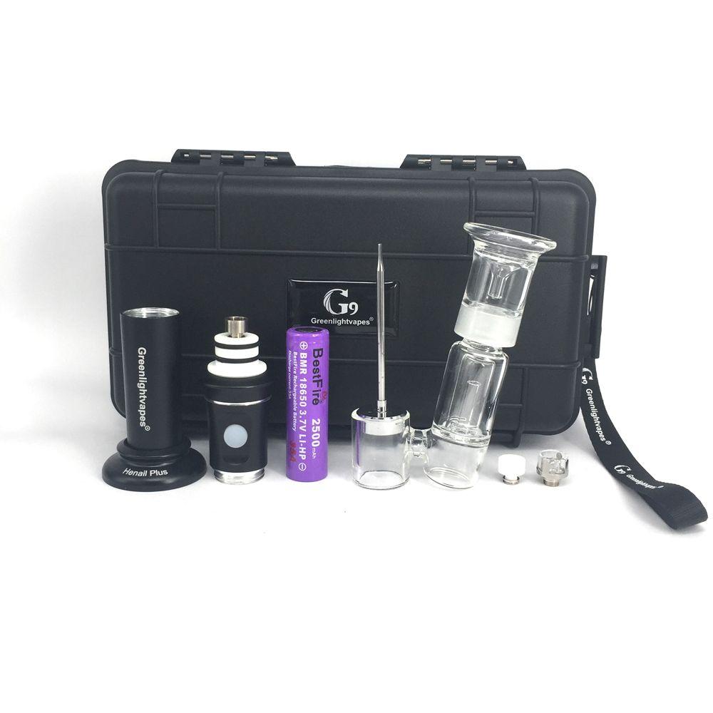 Nova versão inovadora de cera vape caneta com 2500 mah bateria cerâmica unhas de vidro bong acessório Para cera G9 henail plus e cig starter kit