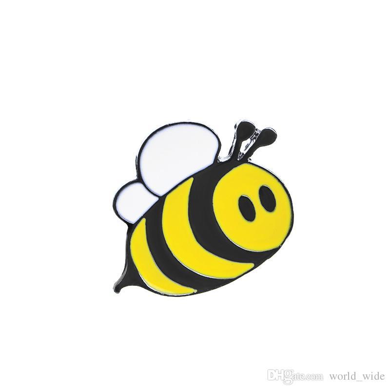 لطيف سعيد نحلة عسل النحل قبعة التلبيب دبابيس المينا دبوس الديكور للملابس والحقائب التلبيب دبوس شارة