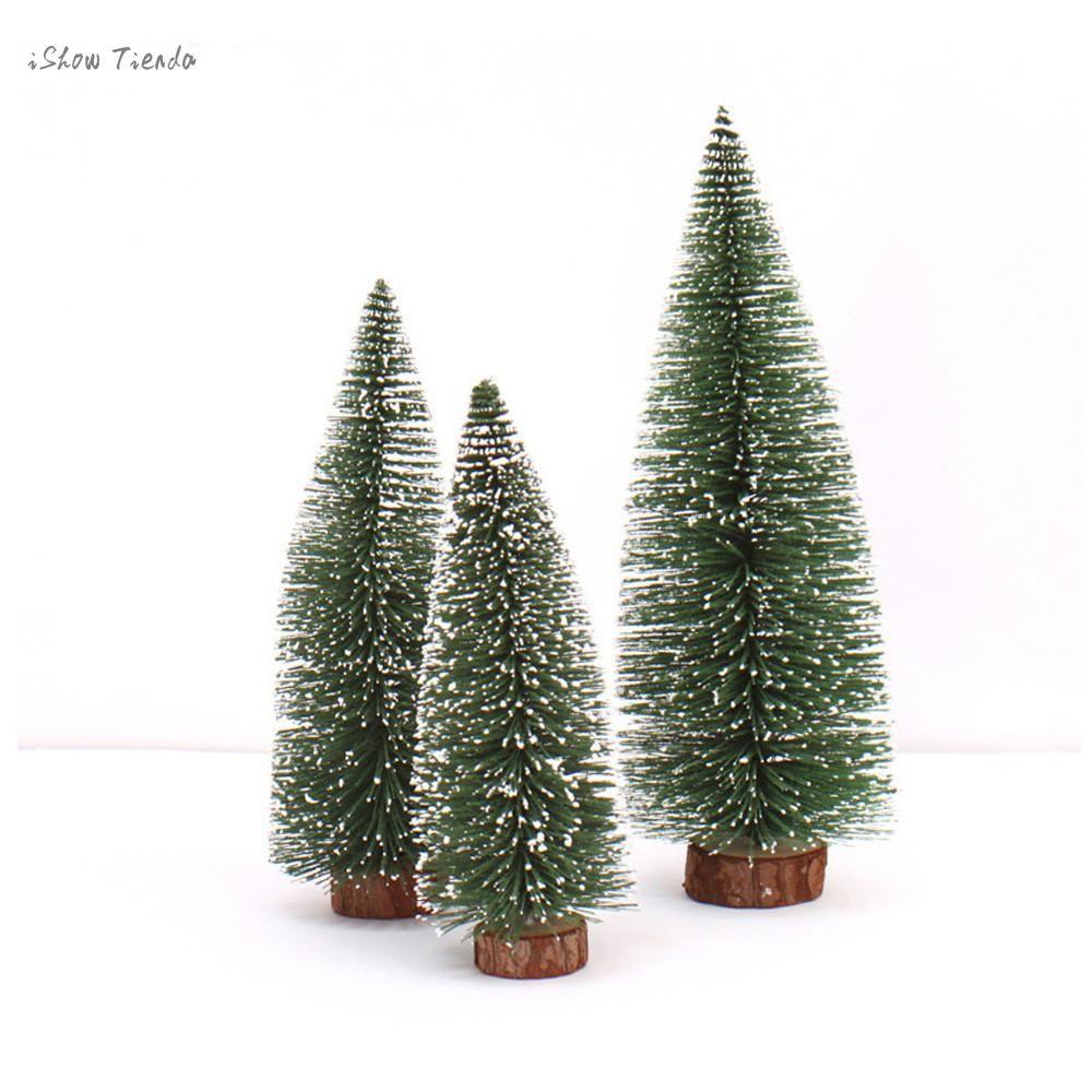 ISHOWTIENDA 10CM/15CM/20CM/25CM/30CM Mini Christmas Tree Stick White Cedar Desktop Small Christmas Tree Mini