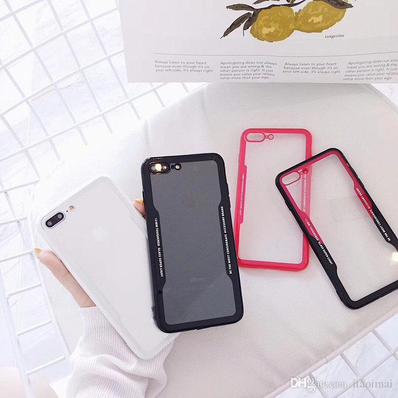 ل Galaxy S9 Plus حالات واضحة ل iPhone X 8 7Plus 6S مكافحة الصدمة ل Galaxy Note 8 S8 S9 Plus