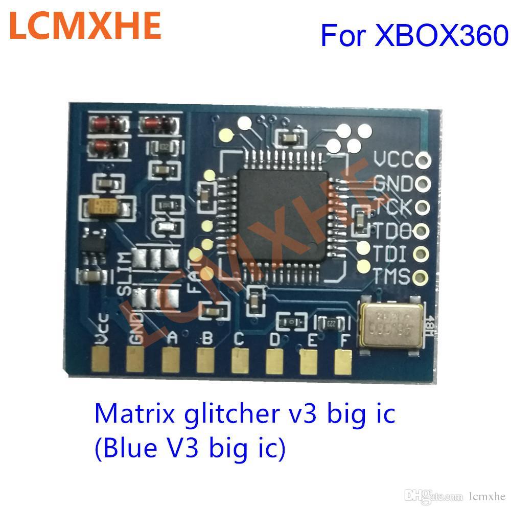 Matrix Glitcher V3 com grande ic Edição chip Corona com 48MHZ Cristal Oscilador para XBOX360 reparação de Alta Qualidade Frete grátis