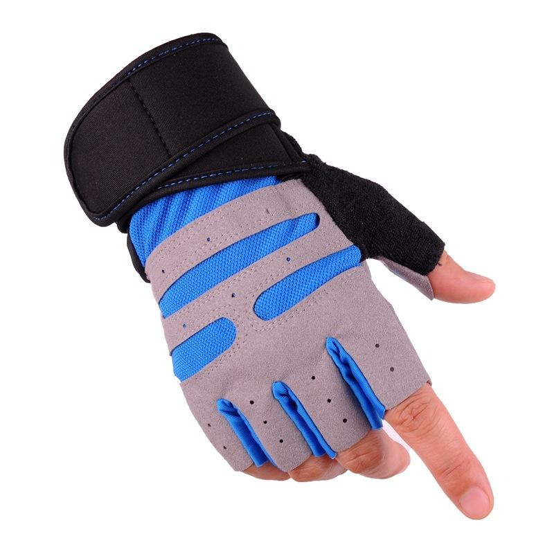 Gym Gloves With Wrist Support Men Women Body Building Sports Fitness WeightLifting Gloves Custom Exercise Gym Glove Half Finger