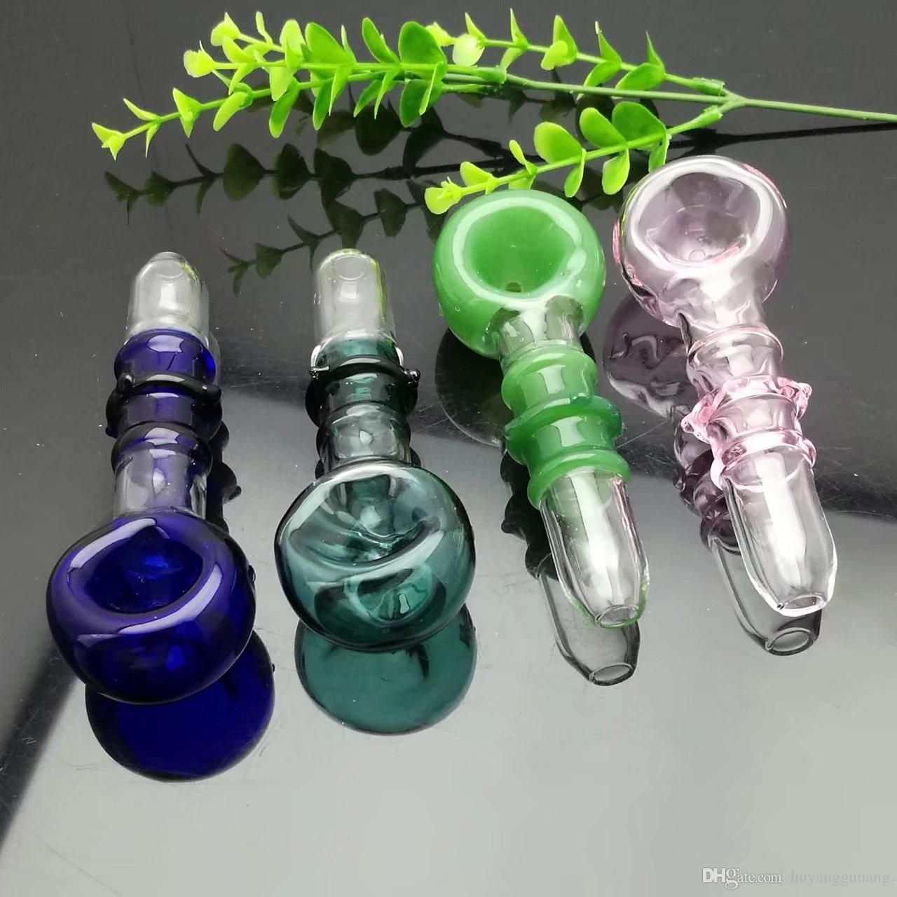 Farbe 3 Runden große Blase konkaver Rauchtopf Glasbongs Ölbrenner Glas Wasserpfeife Bohrinseln Rauchen