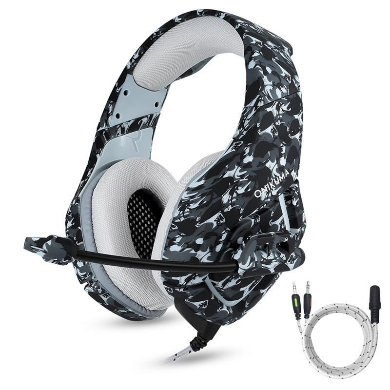 حار كامو قمار سماعة سوبر الثقيلة باس سماعة لعبة 3.5 ملليمتر ستيريو سماعة مع ميكروفون إلغاء الضوضاء للكمبيوتر المحمول الهاتف xbox one ps4