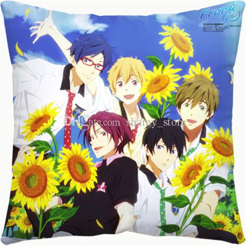 New Cartoon pillow Free! swimming club Tachibana Makoto Nanase Haruka Square Pillow customize gift