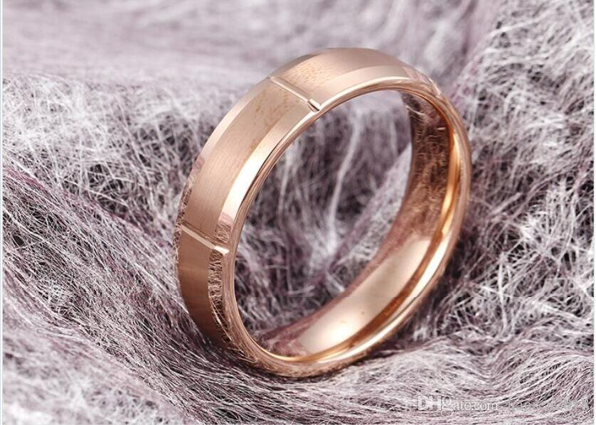 7 mm Luxus Tungsten Ehering Ring 7mm Männer Frauen Comfort Fit 18k Gelb Rose Gold Farbe Bevel Edge High Polished Größe 5 -13