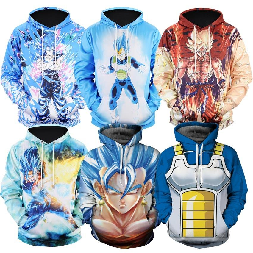 Dragon Ball Z Super Goku Vegeta Saiyan Unisex Hoodie Sweatshirt