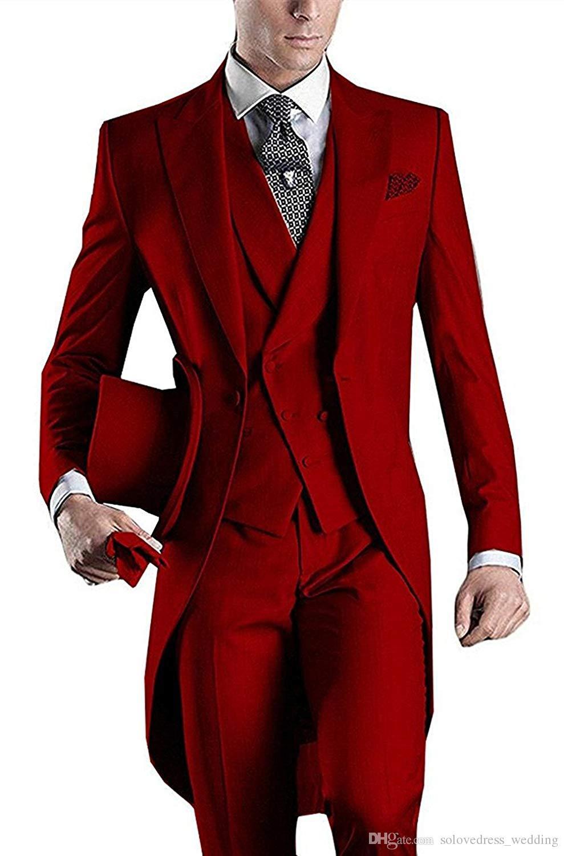 مخصص Solovedress العريس البدلات الرسمية للرجال موضة 3 قطع البدلة سليم صالح رجال الأعمال بدلة رسمية مجموعة