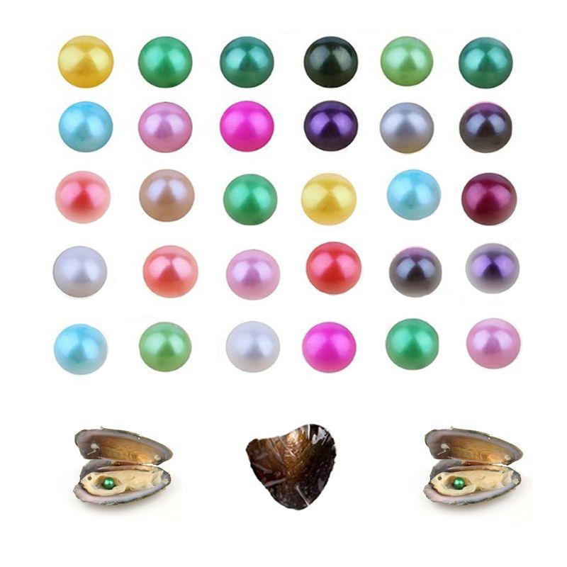 Akoya de alta calidad con descuento bella perlas de agua dulce de 6-7m m ostra 26 colores mezclados envasado al vacío regalo de DIY