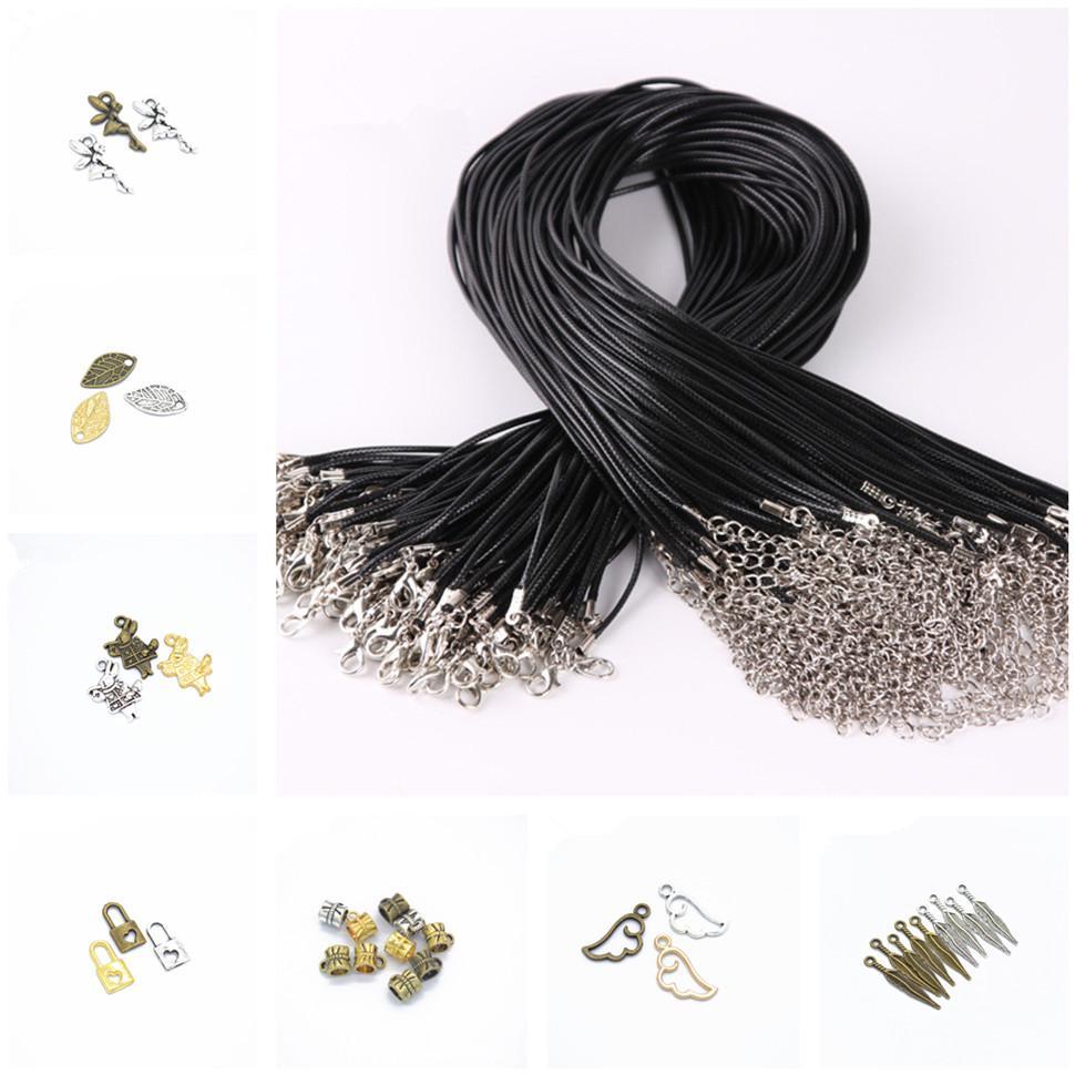 1 Stück Metall DIY neue Art und Weise Herz-Blatt-Mond-Anhänger-Halskette Kristall Halskette Frauen Holiday Beach Statement Schmuck Großhandel