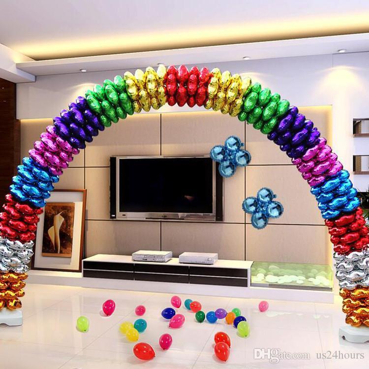 زفاف بالون الأقواس الجرف باكيت كيت المحمولة افتتاح إطار بالون حامل قاعدة مجموعة عيد ميلاد الحزب الديكور