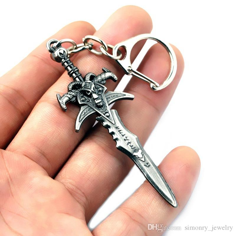 Weapon model KeyChains Around the Game Simulation Male Mini Knife Car Keyring Cool Mens Jewelry Wholesale