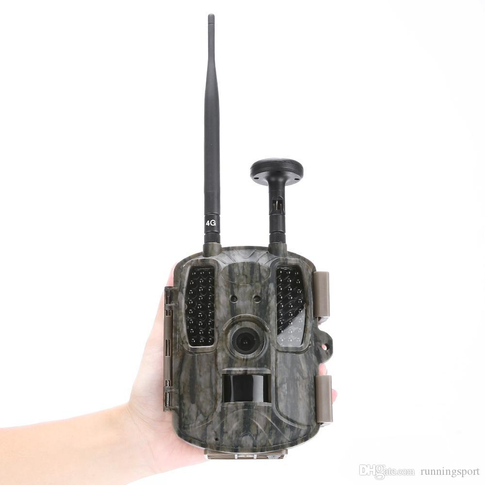 Waterproof Lens Wide Angle 4G Network / GPS Hunting Camera 12MP HD Video MMS GPRS GPS Night Vision Trap Game Wildlife Trail HunterCam