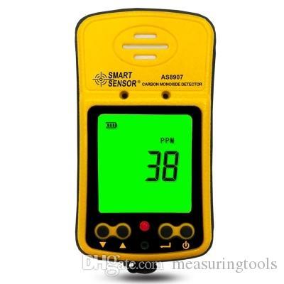 Sensor inteligente AS8907 Detectores de monóxido de carbono de mano Medidor de CO Probador AS-8907 0 ~ 1000PPM