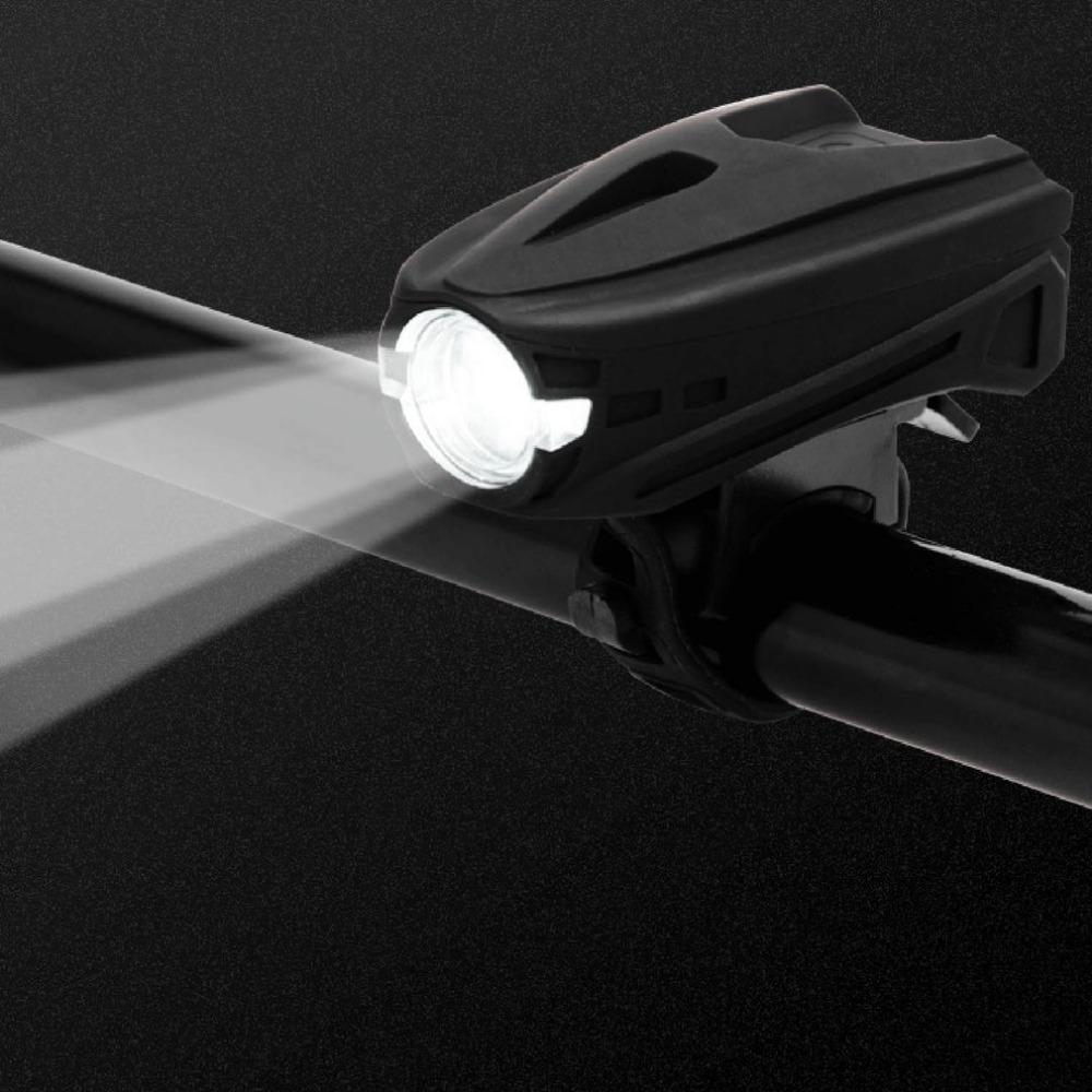 Ciclismo USB recargable luz de la bicicleta 5 modos luz doble faros manillar faro bicicleta LED IPX6 a prueba de agua faro