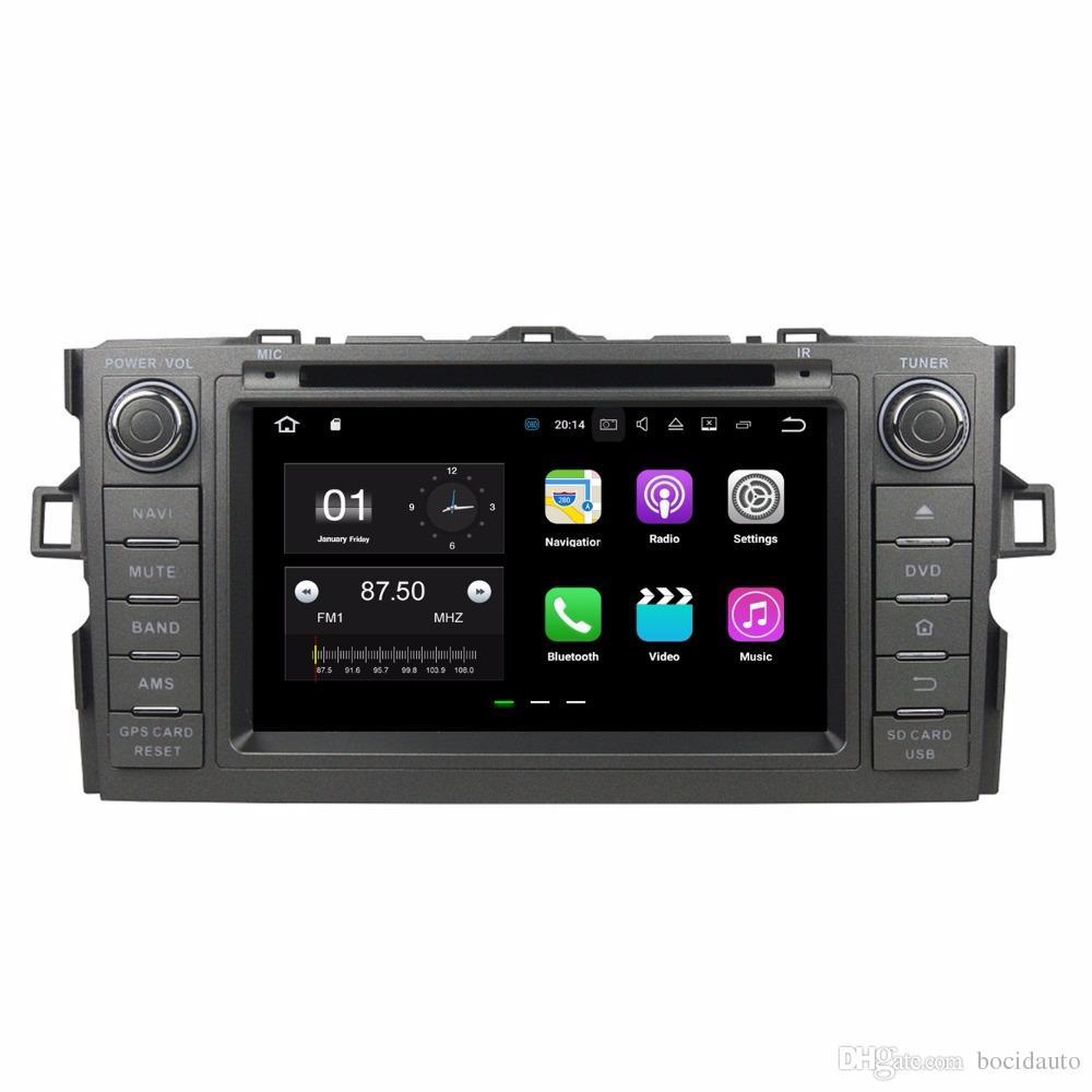 """2 Go de RAM Quad Core 8 """"Android 7.1 Lecteur DVD de voiture Lecteur de DVD audio pour Toyota Auris 2010-2014 avec radio GPS WIFI Bluetooth 16 Go ROM USB DVR"""