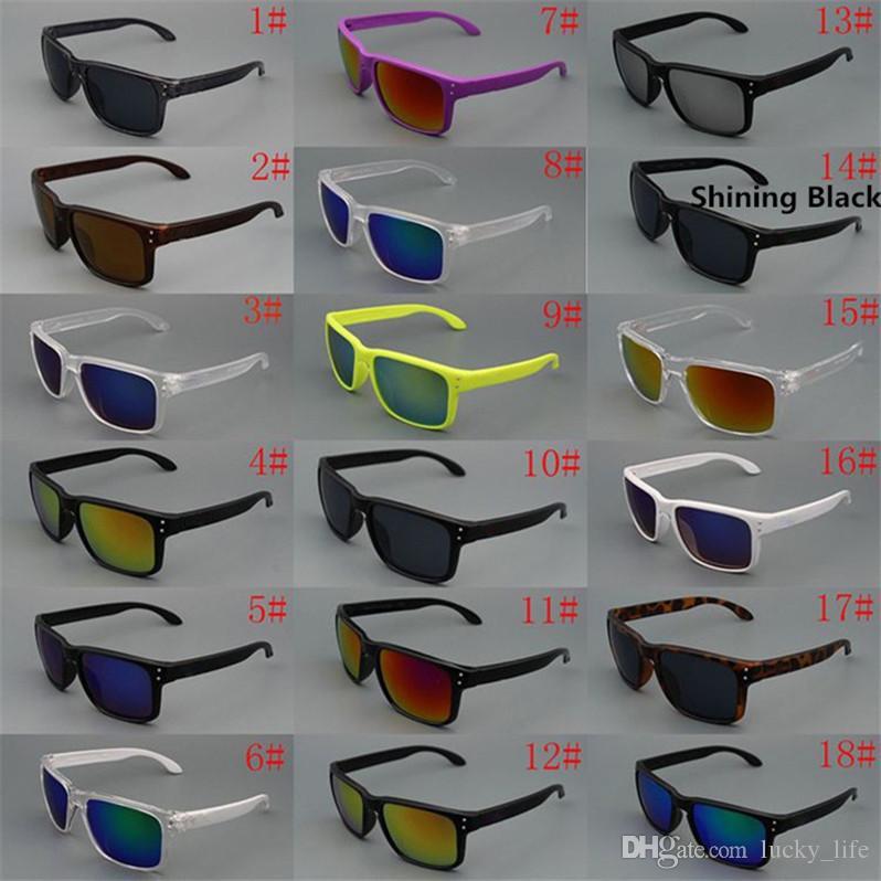 18 colores de la marca gafas de sol de conducción de los hombres gafas de sol deportivas retro vintage marco cuadrado caliente hombres clásicos gafas de sol de sombra caliente