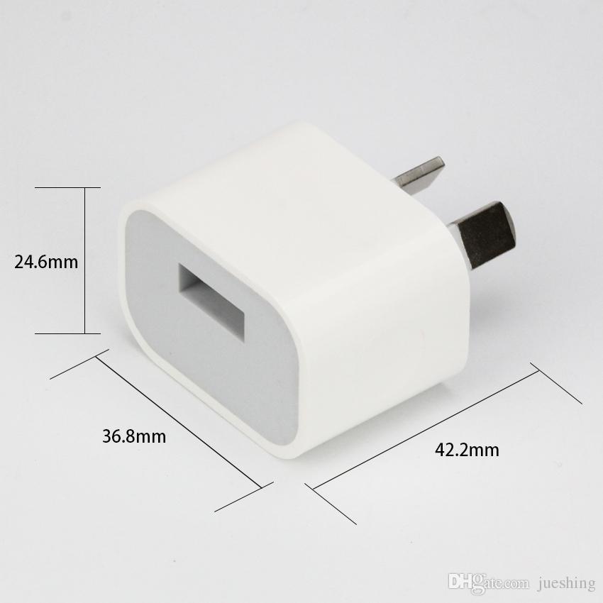 5V 2A AU Australia New Zealand Plug USB Wall Charger Power Travel AC little square Adapter for iPhoneXS X 8 Plus 8 7Plus 6S 6Plus 50pcs/lot