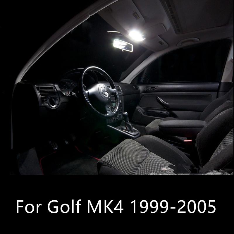 Shinman 11 adet Oto Led Ampul İç LED Işık Paketi Kiti vw golf mk4 1999-2005 için Okuma Lambası Araç İç Işık Aksesuarları