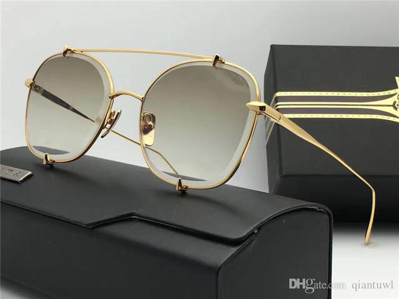 Moda piloto gafas de sol de espejo flash de oro vidrios de sol Gafas de conducción Gafas de sol de moda nueva en caja