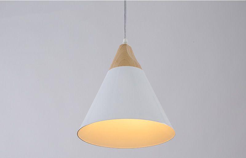 Lampada pendio Lampada a sospensione Skrivo Design Legno Lampade a sospensione in alluminio Paralume in legno vintage lampadari gialli argento E058