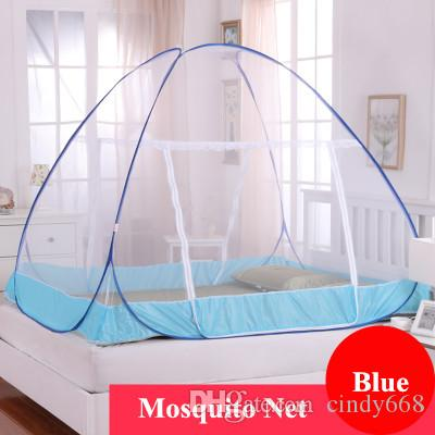 2018 New Arrival Two Door Mongolian Yurt Mosquito Net for Adults Double Bed, Folding Netting Tent ,Portable 1.5 M Bed Canopy moustiquaire