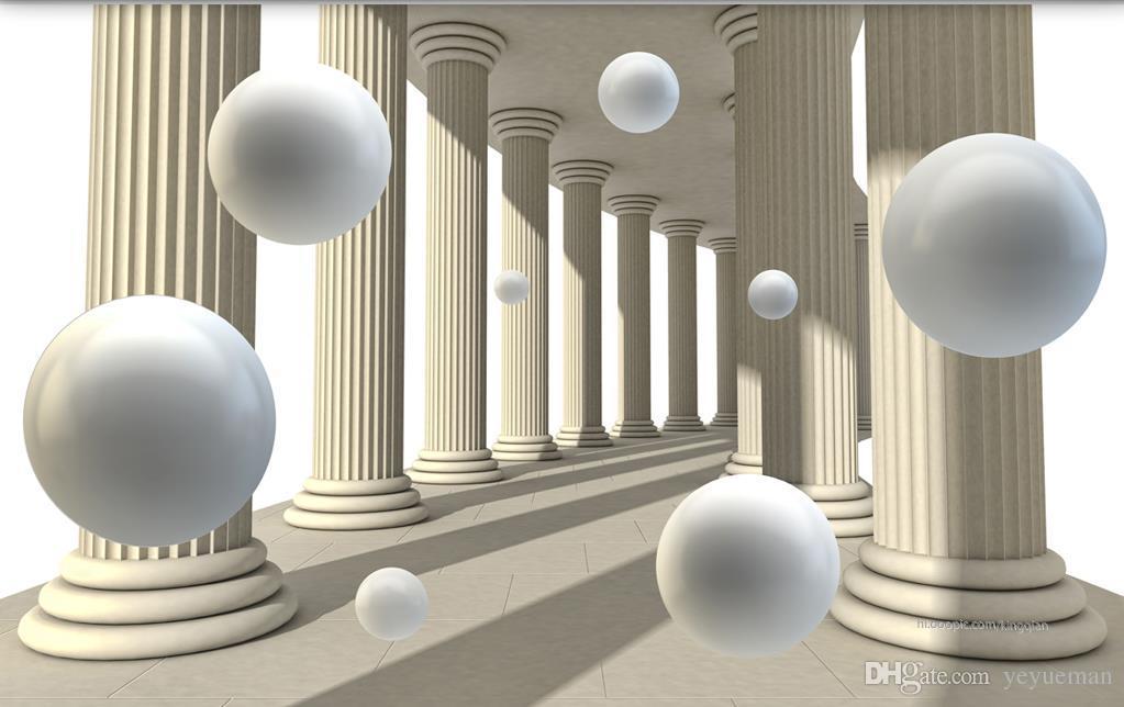 3D фреска обои на заказ живопись римская колонна мяч фон Спальня Гостиная настенные росписи обустройство дома