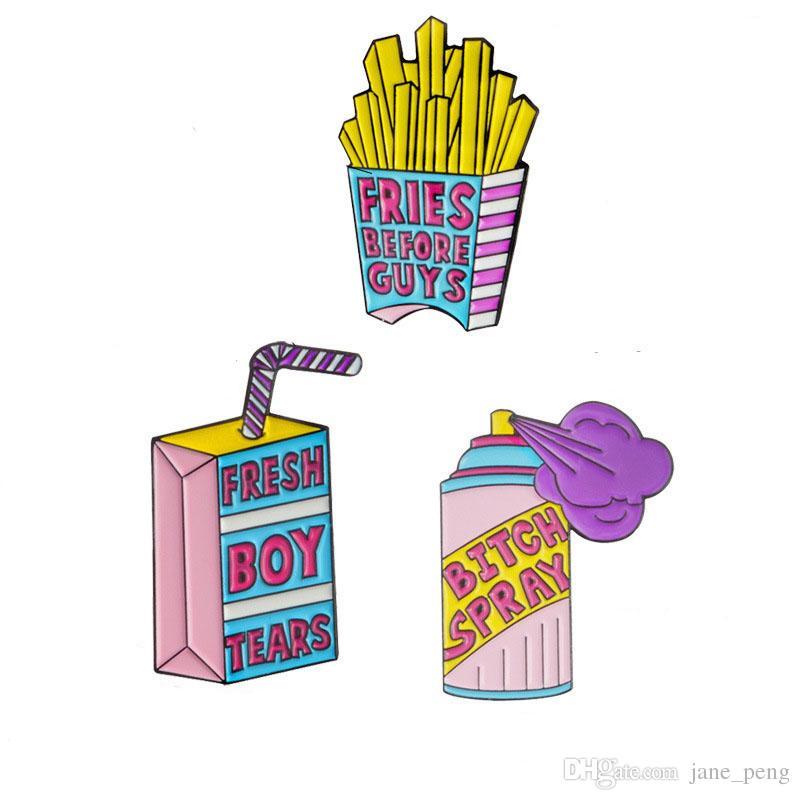 Simpatico cartone animato smalto spille pins per donna uomo bambini Demin Shirt zaino cappello distintivo moda spilla piccolo taglio broche Drop Shipping