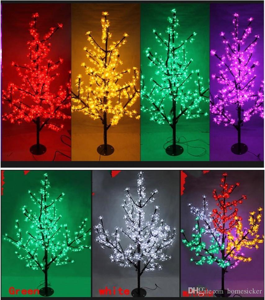 LED arbre de fleurs de cerisier lumière de Noël 1.5m / hauteur de 576pcs LED ampoules 110 / 220VAC décoration de jardin féerique anti-pluie