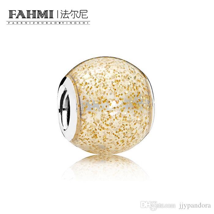 Fahmi 100% 925 Sterling Silver 1: 1 Oryginalny 796327EN146 autentyczne temperament Moda Glamour Retro Bead Wedding Women Jewelry