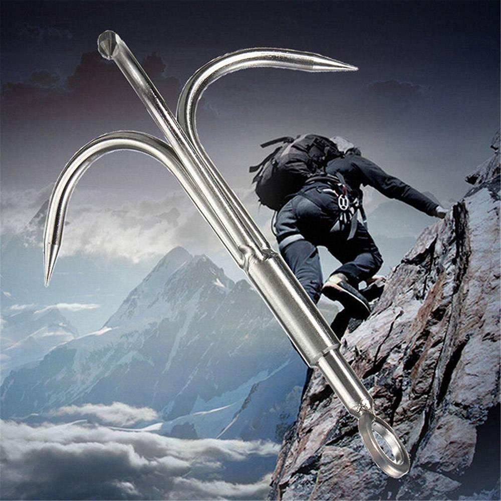 Spedizione gratuita Outdoor 3 Artigli Grappling Hook Arrampicata Sopravvivenza Moschettone Strumento Grappling Hook portatile Artiglio Alpinismo in acciaio inossidabile