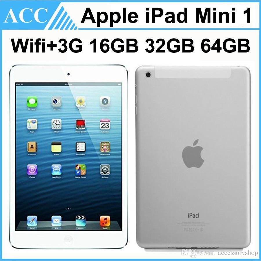 Recuperado Original da Apple iPad Mini 1 WIFI + 3G Cellular 1ª Geração 16GB 32GB 64GB 7.9 polegadas 1pcs IOS Dual Core A5 Chipset Tablet PC DHL