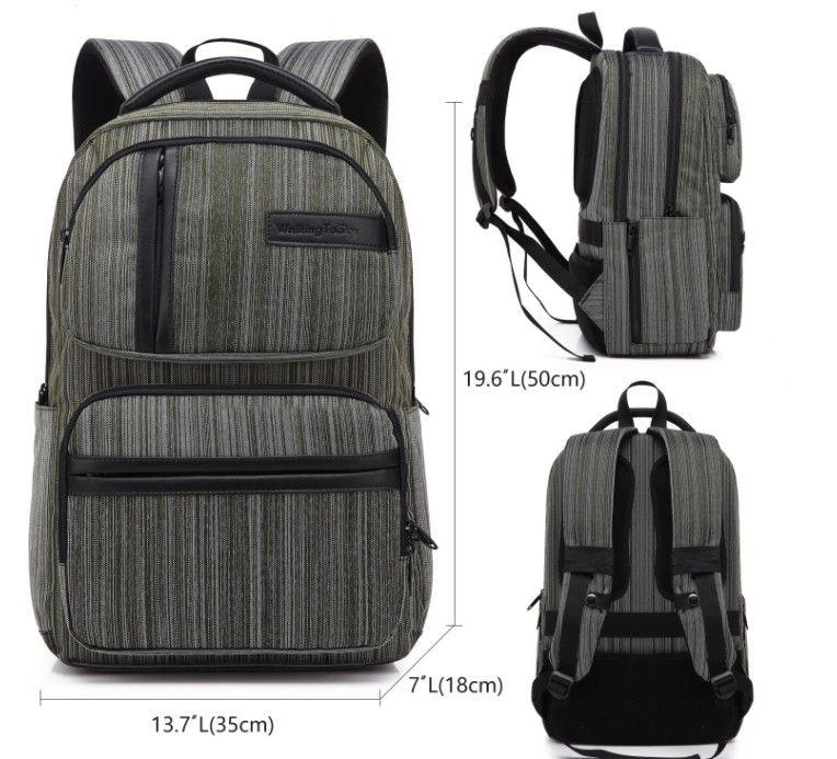 2018 компьютер сумка Спорт на открытом воздухе путешествия Рюкзак школьный ранец рюкзак холст чистый цвет мужчины и женщины школьные сумки Сумки AD8150#