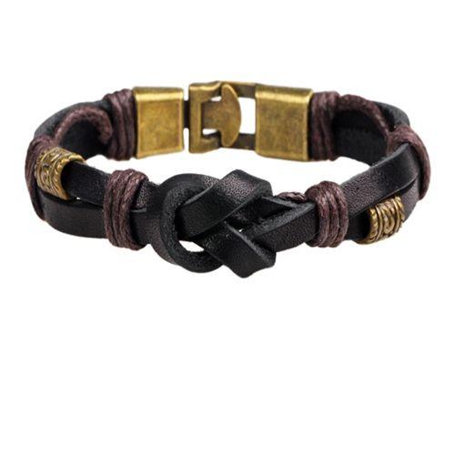 Pulseira de couro dos homens à moda real pulseira pulseira pulseira de couro personalidade pulseiras jóias para mulheres casal presentes de natal