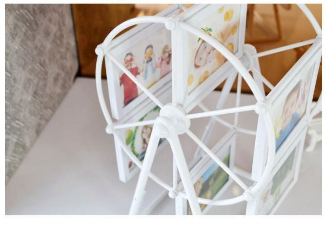 Photo Cadre en plastique European Ferris Wheel Combinaison Mariage 2 pouces Prix usine Expert Design Quality Style Statut original