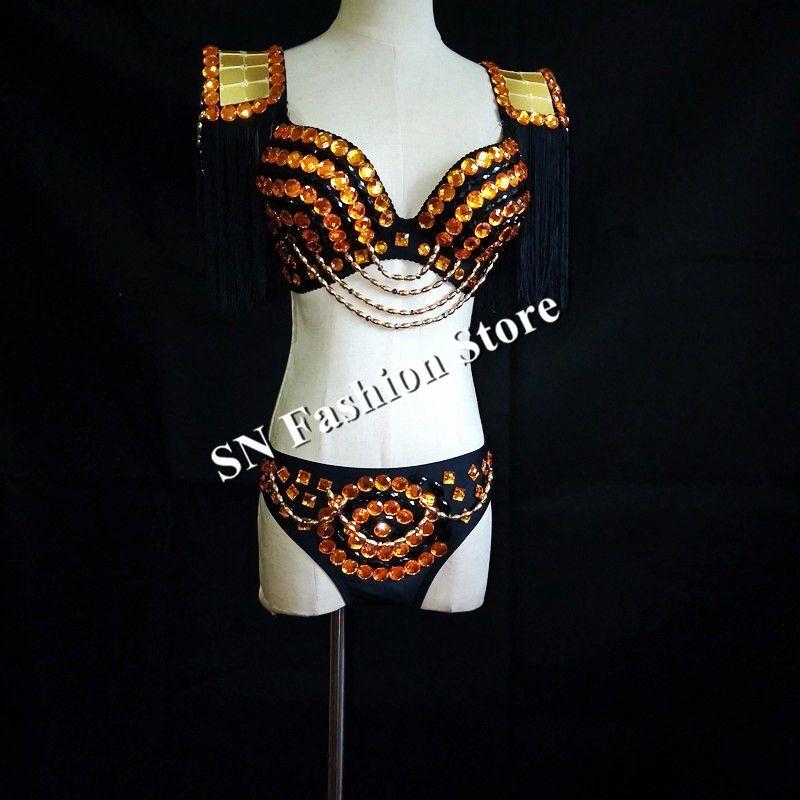 EC56 золото зеркало платья dj диско сценическое шоу носит одеть женщин бикини бюстгальтер модели одеть клуб производительность партии наряд жилет бар наряд дискотека