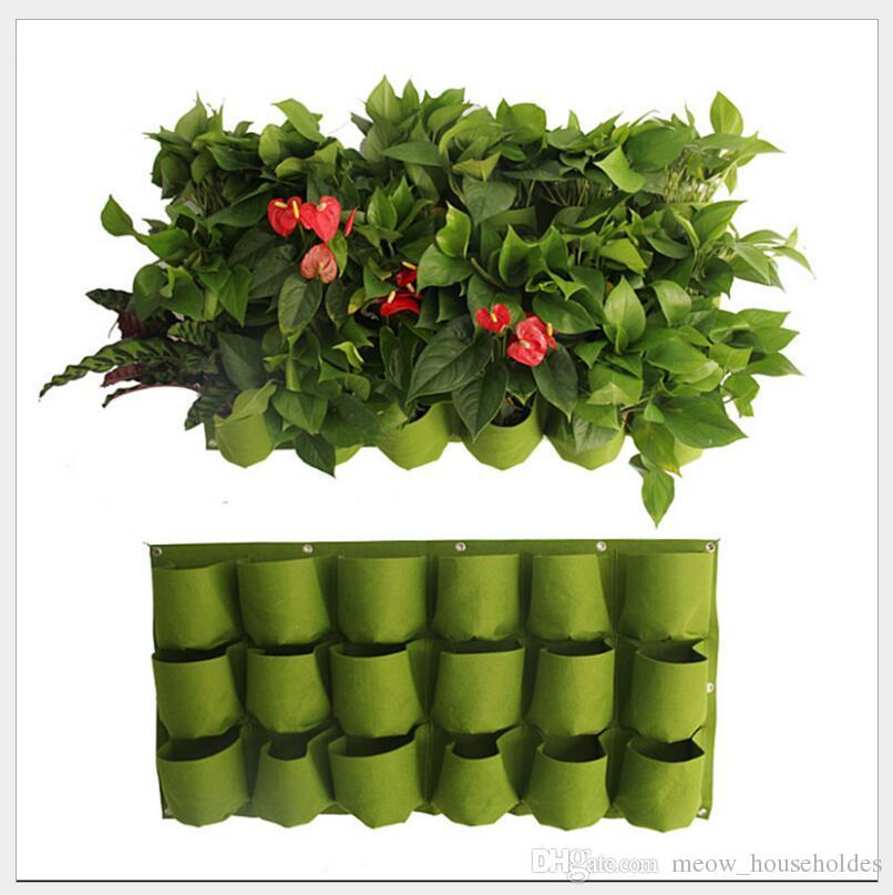 0.5m * 1m poches intérieures verticales feutre plante de jardin verticale cultiver des pots contenant des pots de fleurs suspendus jardinière sur le mur
