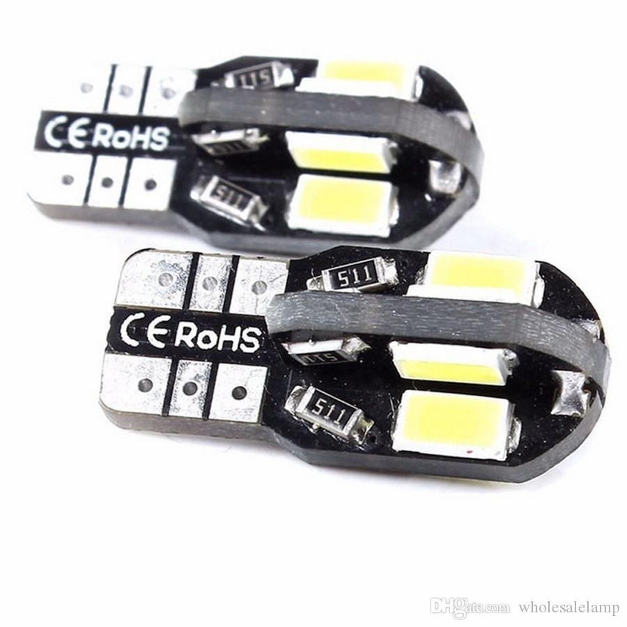 T10 8SMD W5W Canbus Led Light 194 168 5730 NO ERROR Car Auto Bulbs Indicator Light Parking Lamp 12V
