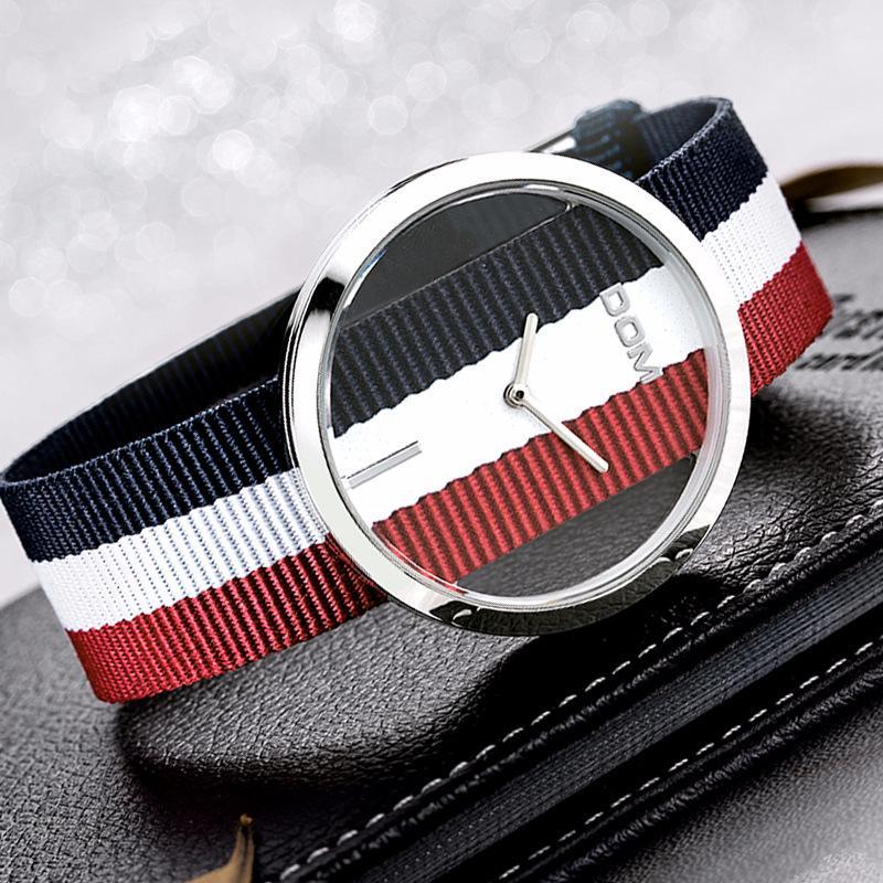Orologio al quarzo cava moda LP-205L vetro minerale rinforzato con fibbia a specchio, fibbia, orologio da polso