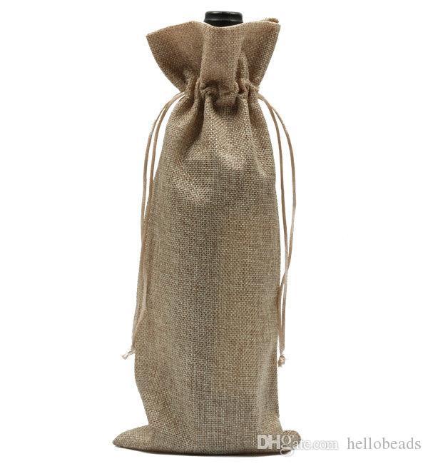 """SACK Gunny Chooser старинные сумки для бутылок джута вина Drawstring 15CMX35CM (6 """"x14"""") подарочная сумка свадьбы и фестивальские украшения для украшения"""