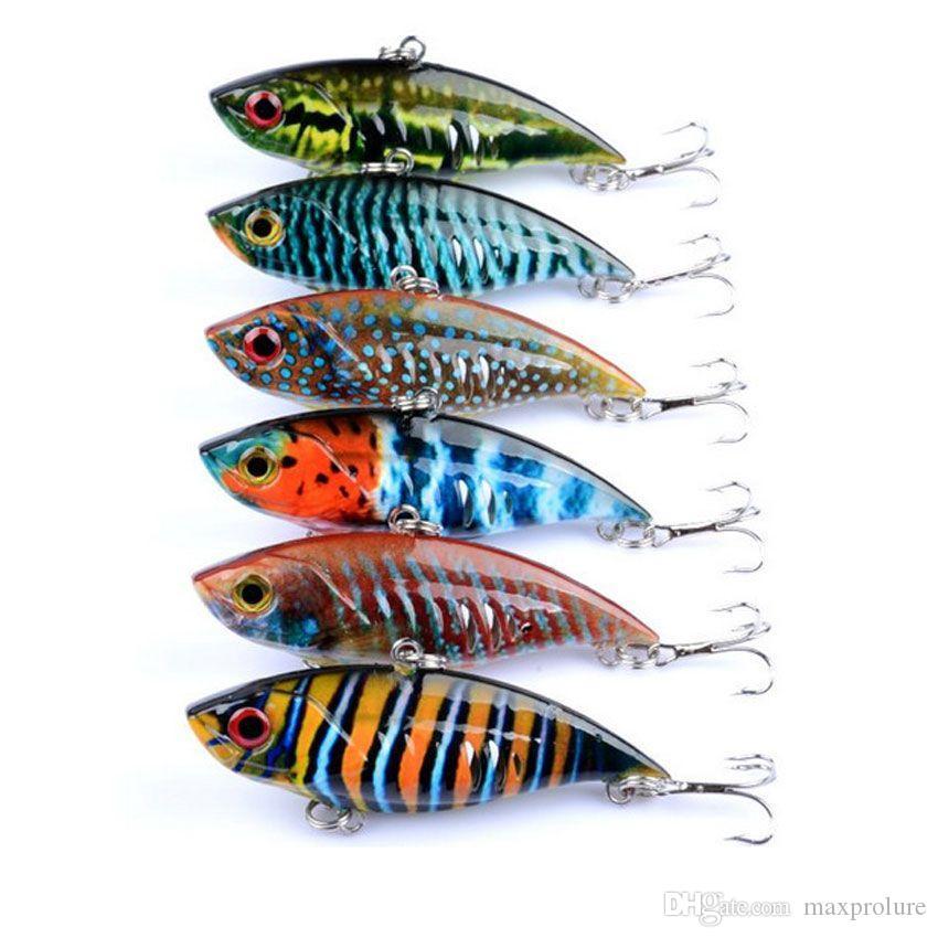 6 Unids / lote Pesca Artificial Señuelos Wobblers Crankbaits VIB Serie Pintada Cebos Duros Artificiales Pesca 6.5 cm 10.6g Envío de La Gota