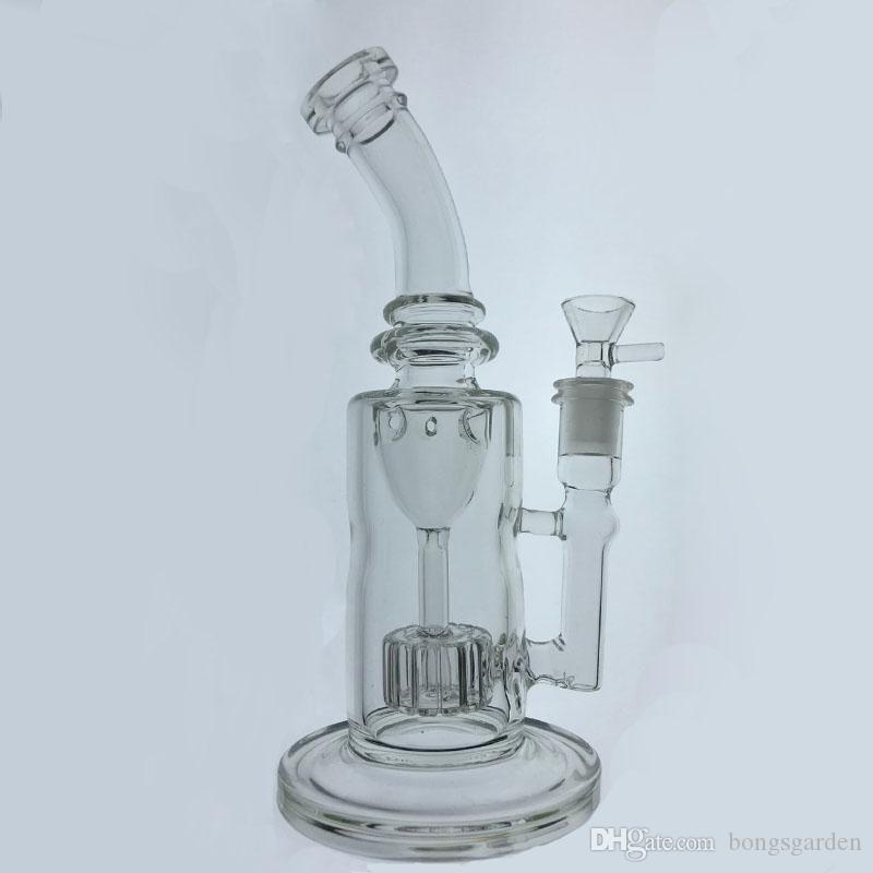 Tubi di vetro di torio che fumano Tubi di acqua Recycler Smoking bong oil dab rigs Giunto 14mm con ciotola