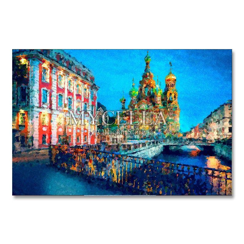 Belle Saint-Pétersbourg Diy Diamant Peinture Pleine Broderie Complète Mosaïque Art Paysage Photos Strass Décoration de La Maison