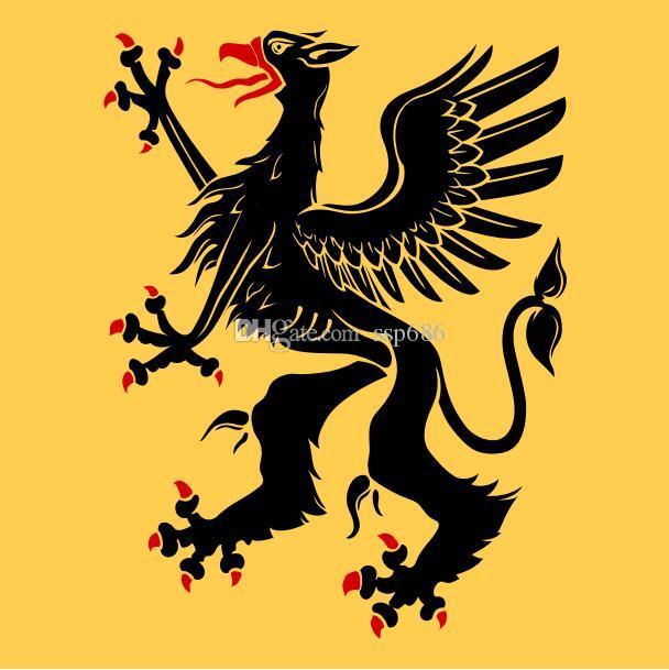 Flaga Szwecji Södermanlands Län Vapenflagga 3ft x 3ft Poliester Banner Latający 90 * 90 cm Niestandardowa flaga na zewnątrz