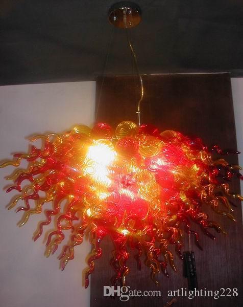 Lámpara de cristal soplado de lujo Estilo Chihuly Nuevo Barato Pequeña Mejor Obra maestra Iluminación de iluminación Luces sopladas