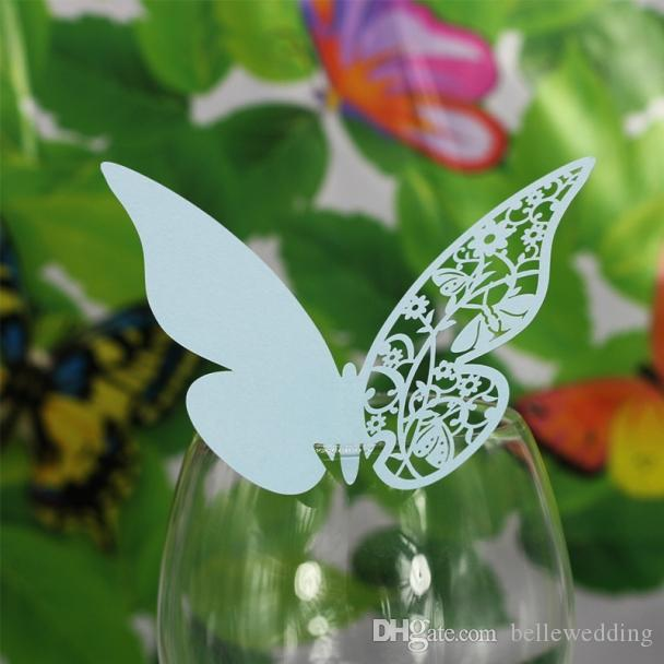 Butterfly Seating Cards Laser Cut Hollow Paper Name Card For Party Wedding Place Cards Wedding Table Decorations PC1005