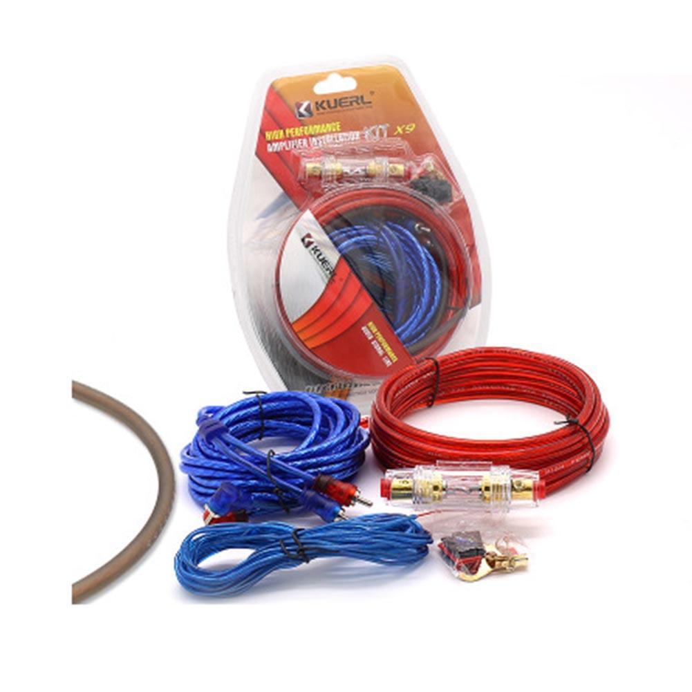 Автомобильный усилитель мощности монтажный комплект 8 Калибр автомобилей спикер НЧ-динамик сабвуфер кабели аудио проводка с предохранителем костюмы новый