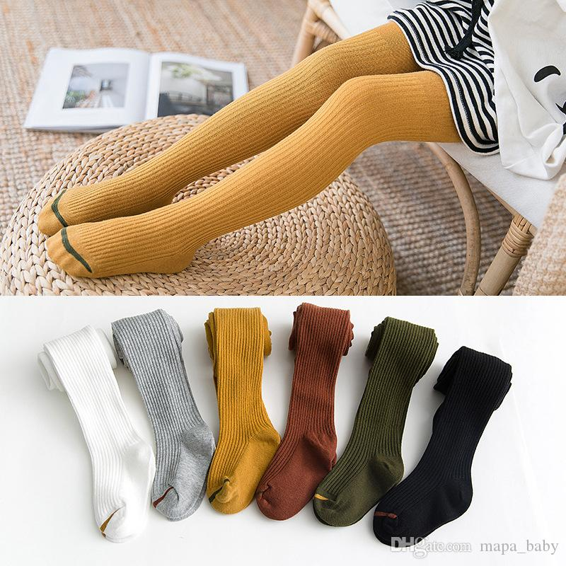 Kids Pants Ins Pantyhose Girl Solid Leggings Cloud Stripe Long Socks Striped Print Tights Baby Fashion Panty-Hose Leggings